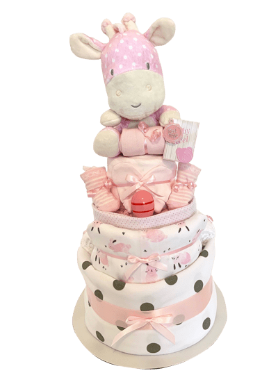 Baby Girl – 3 Tier Nappy Cake-min