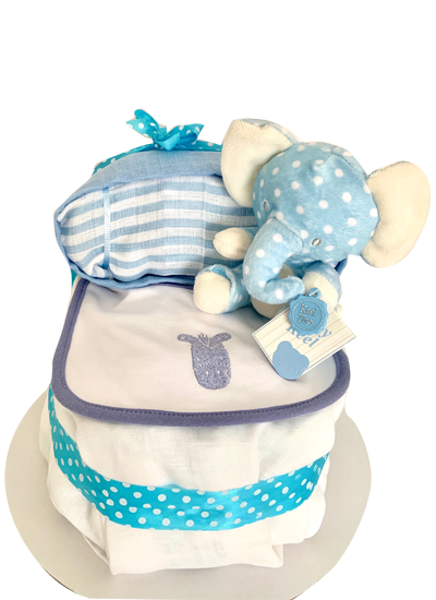 Baby Boy 'Bassinet' Nappy Cake